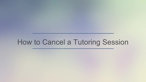 Thumbnail for entry TutorOcean - Cancel a TutorOcean Session.mp4
