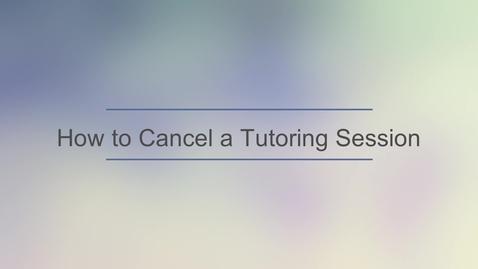 Thumbnail for entry TutorOcean - Cancel a TutorOcean Session.mp4