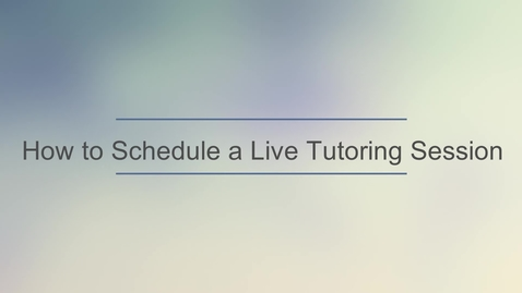 Thumbnail for entry TutorOcean - Schedule a  Session.mp4