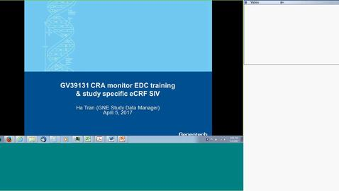 Thumbnail for entry GV39131 CRA eCRF training 2017-05-01 #04