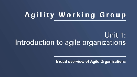 0001-Intro to agility