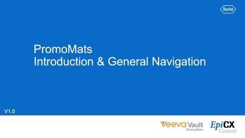 Thumbnail for entry PromoMats: Introduction and general navigation