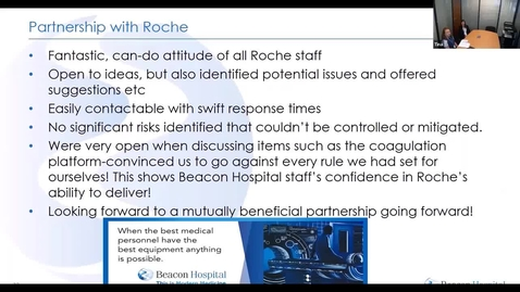 Thumbnail for entry Rochetalks- Laboratory Coagulation Webinar (2nd July 2020) Beacon Hospital Pathology Laboratory parternship with Roche