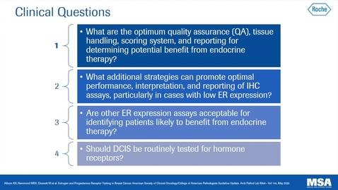 Thumbnail for entry ER/PgR Testing in Breast Cancer: CAP/ASCO 2020 Guideline update
