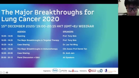 Thumbnail for entry The Major Breakthroughs in Lung Cancer 2020