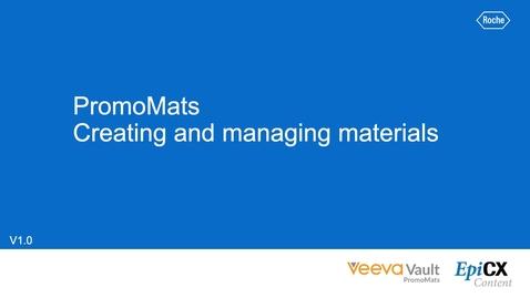 Thumbnail for entry PromoMats: Creating & Managing Materials