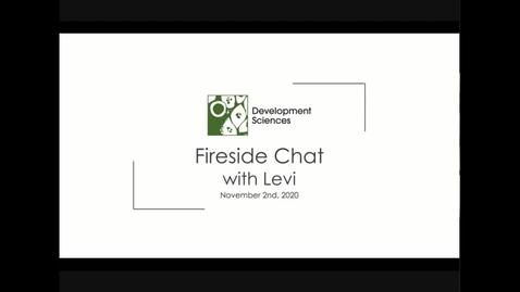 Thumbnail for entry DevSci Fireside Chat with Sara Kenkare & Levi Garraway - 2 Nov 2020