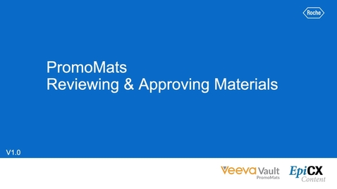 Thumbnail for entry PromoMats: Reviewing and Approving materials