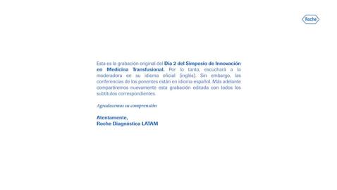 Thumbnail for entry Día 2: Simposio de Innovación en Medicina Transfusional