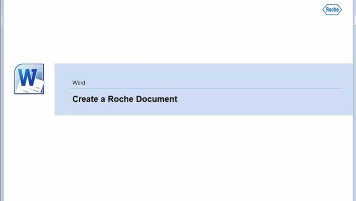 Microsoft Word - Create a Roche Document