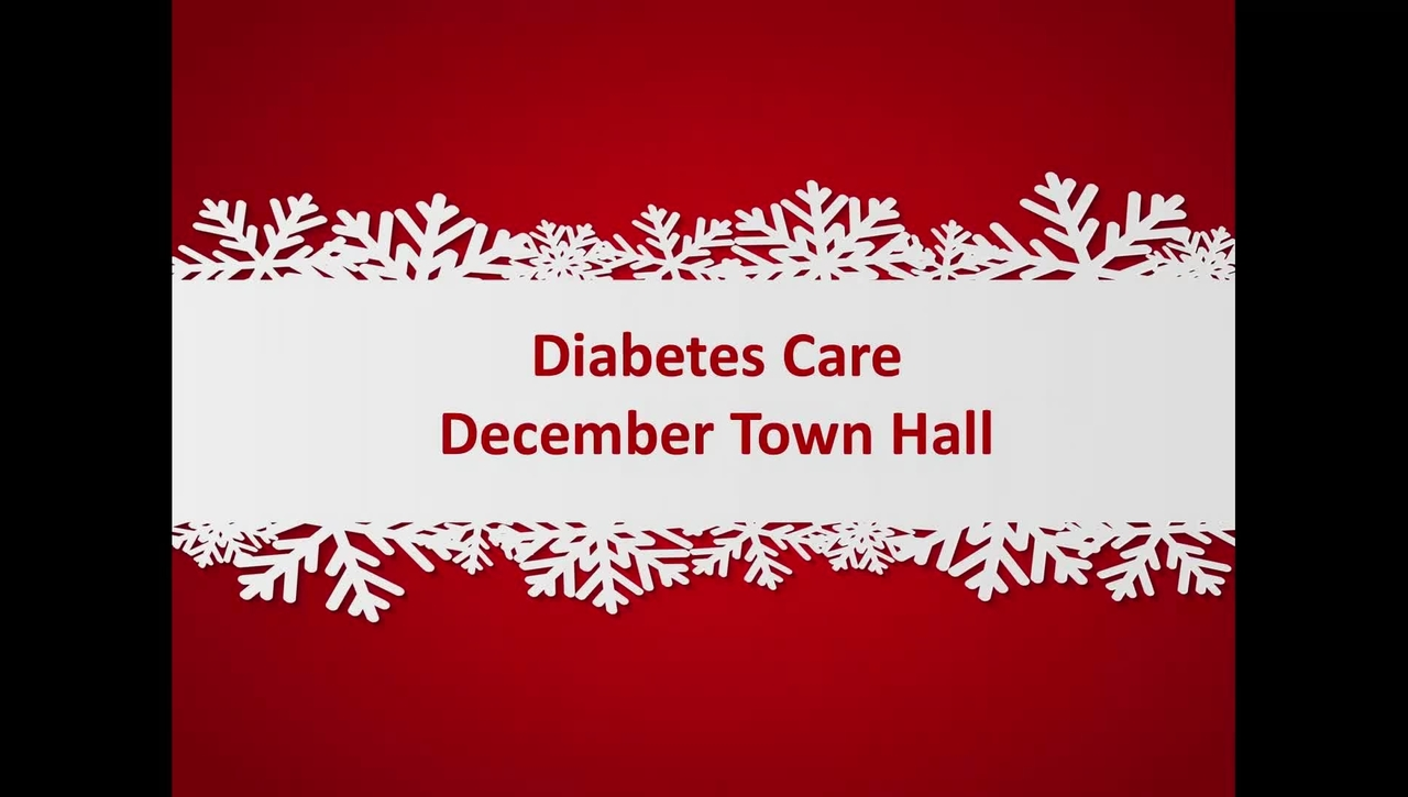 Diabetes Care Town Hall 12/14/16