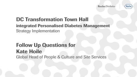 Thumbnail for entry Kate Hoile's Q&A video - DC Transformation town hall: follow up on open questions