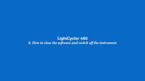 How to close the software and switch off the instrument