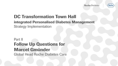 Thumbnail for entry Marcel Gmünder's Q&A videos (Part II) - DC Transformation town hall: follow up on open questions