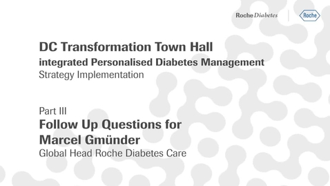 Thumbnail for entry Marcel Gmünder's Q&A videos (Part III) - DC Transformation town hall: follow up on open questions