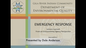 Thumbnail for entry Emergency Response: Lessons Learned from an Environmental Agency Perspective