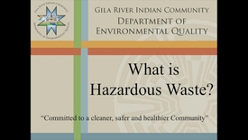 Thumbnail for entry What is Hazardous Waste?
