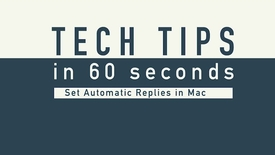 Thumbnail for entry Tech Tips - Auto Reply MAC