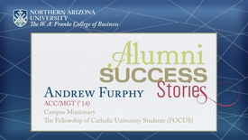 Thumbnail for entry NAU-FCB: Alumni Success Story: Andrew Furphy