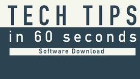 Thumbnail for entry Tech Tip - NAU Software Download