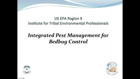 Thumbnail for entry IAQ R9 Series - Using Integrated Pest Management to Control Bed Bugs in Tribal Communities