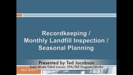 Thumbnail for entry Administrative Management of Your Landfill