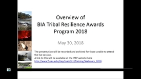 Thumbnail for entry BIA RFP - Tribal Resilience and Ocean and Coastal Management and Planning