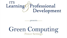 Thumbnail for entry Green PC Power Settings