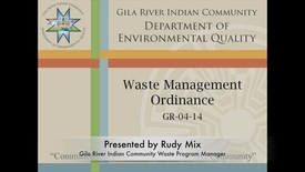 Thumbnail for entry GRIC Waste Management Ordinance