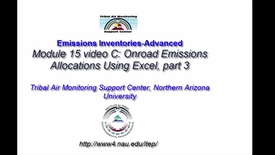 Thumbnail for entry EI Advanced 15C Onroad Emissions Allocations Using