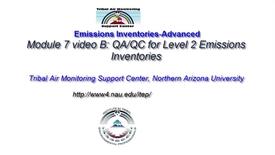 Thumbnail for entry 7B EI-Advanced: QA-QC for an Emissions Inventory