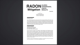 Thumbnail for entry Radon Mitigation in Alaska