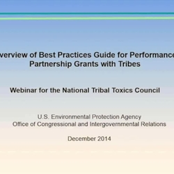 Thumbnail for channel Tribal Environmental Management_ Planning_ and Grants
