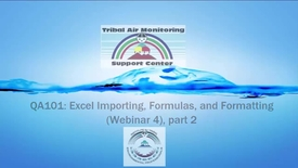 Thumbnail for entry QA101_ Excel Importing, Formulas, and Formatting (