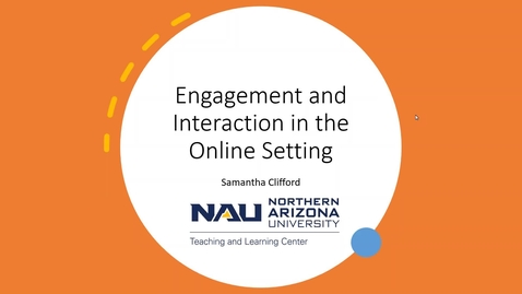 Thumbnail for entry Engagement and Interaction Online - Webinar