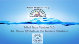 Thumbnail for entry Tribal Data Toolbox 3.0 - 4B_ Ozone QC Data in the