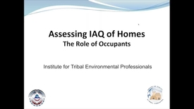 Thumbnail for entry Assessing IAQ Discussions with Occupants