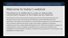 Thumbnail for entry Radionuclide Contaminant Transport at the Pueblo de San Ildefonso