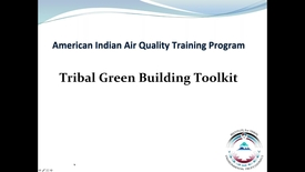 Thumbnail for entry AIAQTP Series - Green Building Tools for Tribes
