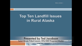 Thumbnail for entry Top 10 Landfill Issues in Rural Alaska
