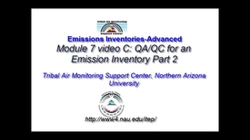 Thumbnail for entry 7C EI-Advanced QA-QC for an Emissions Inventory