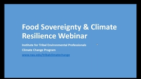 Thumbnail for entry Food Sovereignty & Climate Resilience
