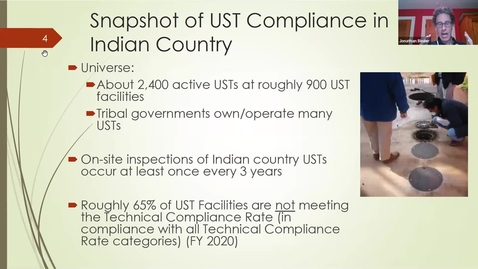 Thumbnail for entry Coordination on EPA's Pilot to to Improve Compliance at Underground Storage Tanks in Indian Country