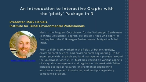 Thumbnail for entry An Introduction to Interactive Graphs with the 'plotly' Package in R