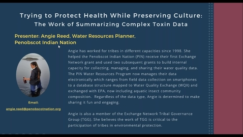 Thumbnail for entry Trying to Protect Health While Preserving Culture: The Work of Summarizing Complex Toxin Data