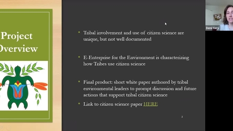 Thumbnail for entry Tribal Citizen Science: Eight Case Studies to Highlight how Tribal Citizen Science can be Implemented and Supported within Tribal Environmental Agencies