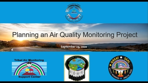 Thumbnail for entry Planning an Air Quality Monitoring Project