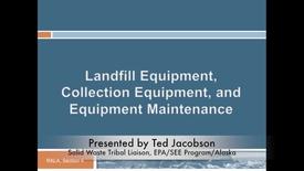 Thumbnail for entry Landfill Equipment Maintenance