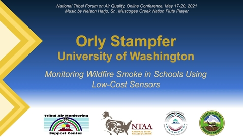 Thumbnail for entry Monitoring Wildfire Smoke in Schools Using Low-Cost Sensors