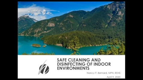 Thumbnail for entry Safe Cleaning and Disinfecting of Indoor Environments